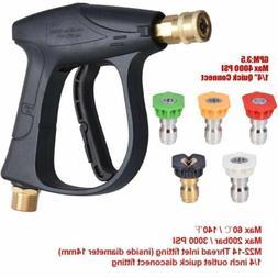 1000-3000 PSI Power Pressure Washer Gun w/ 4 Color Spray Noz