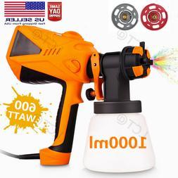 1000ML Electric Spray Gun 600W Paint Sprayer Painting Compre