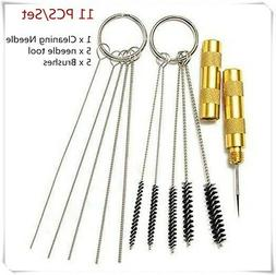 11pcs Airbrush Cleaning Needle & Brush Accessories Kit for S