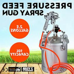 2-1/2 GALLON PRESSURE FEED PAINT TANK POT SPRAYER INDUSTRY S
