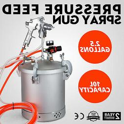 2-1/2 Gallon Pressure Feed Paint Tank Pot Sprayer Widely Tru