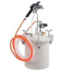 Goplus 2-1/2 Gallon Pressure Pot Spray Gun with Hoses, Press