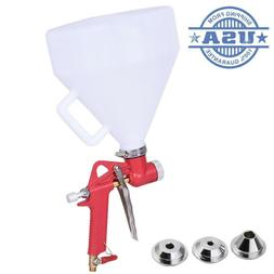 3 Nozzle Air Hopper Spray Gun Paint Texture Tool Drywall Wal