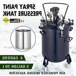 5 Gallon Pressure Feed Paint Pot Tank Spray Gun Sprayer Regu