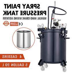5 Gallon Pressure Tank Pot Paint Sprayer Spray Gun Sprayer R