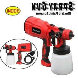 550W 110V Electric Spray Gun Paint Sprayer Painter 800ml Han