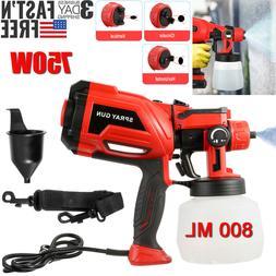 700W Electric HVLP Spray Gun Paint Sprayer Painter 800ml Han