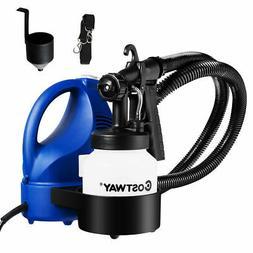 600W Electric HVLP Paint Sprayer Handheld 3-way Spray Gun w/