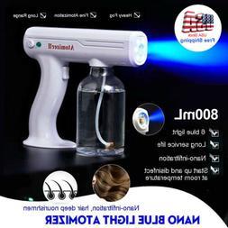 800ML Portable Blue Light Nano Steam Spray Gun Sprayer Machi
