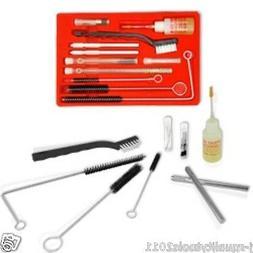 New Pro Air Tool Paint Spray Gun Cleaning Kit 23pc Hvlp Grav