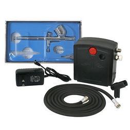 Airbrush Compressor Kit Dual Action Spray Air Brush Set Tatt