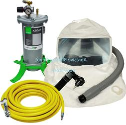 complete lightweight respirator system for spray painting