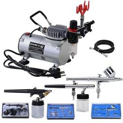 dual single action airbrush compressor