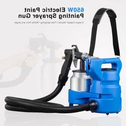 650W Electric Painting Paint Sprayer Gun 3-ways Copper Nozzl