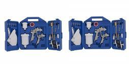 Spray Gun Kit, Gravity Feed, Includes 2 Spray Guns, Accessor