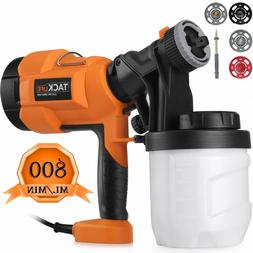 Hvlp Paint Sprayer 800ml/min, Electric Spray Gun with 3 Spra