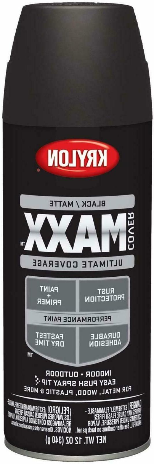 12 Ounce Matte Black K09198000 COVERMAXX Wall Spray Paint Tr