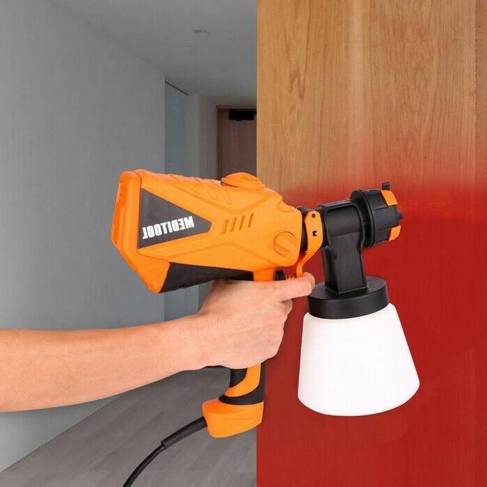 Electric Spray Gun Easy Paint Sprayer w/Zoom Adjustable For