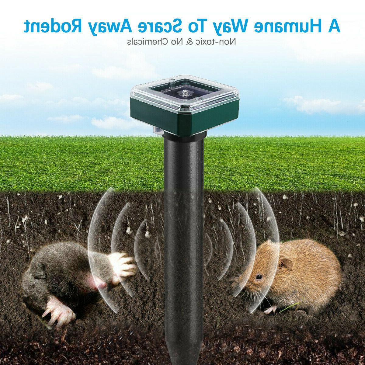 2-Solar Mouse Mole Repeller