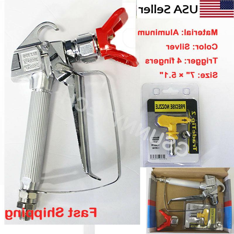 3600psi airless paint spray gun w tip