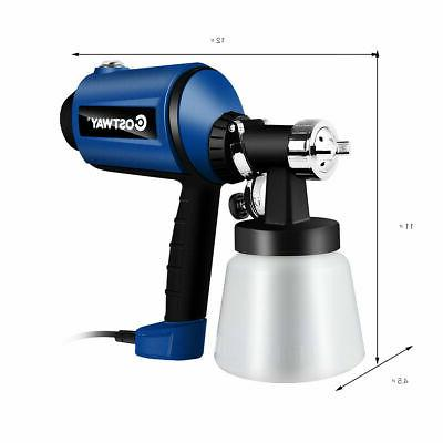 450W Electric Sprayer Handheld 3-ways Spray Gun w/ 3 Copper Nozzles