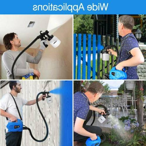 650W Electric Paint Sprayer Gun 3-ways Nozzle+Cooling Sys