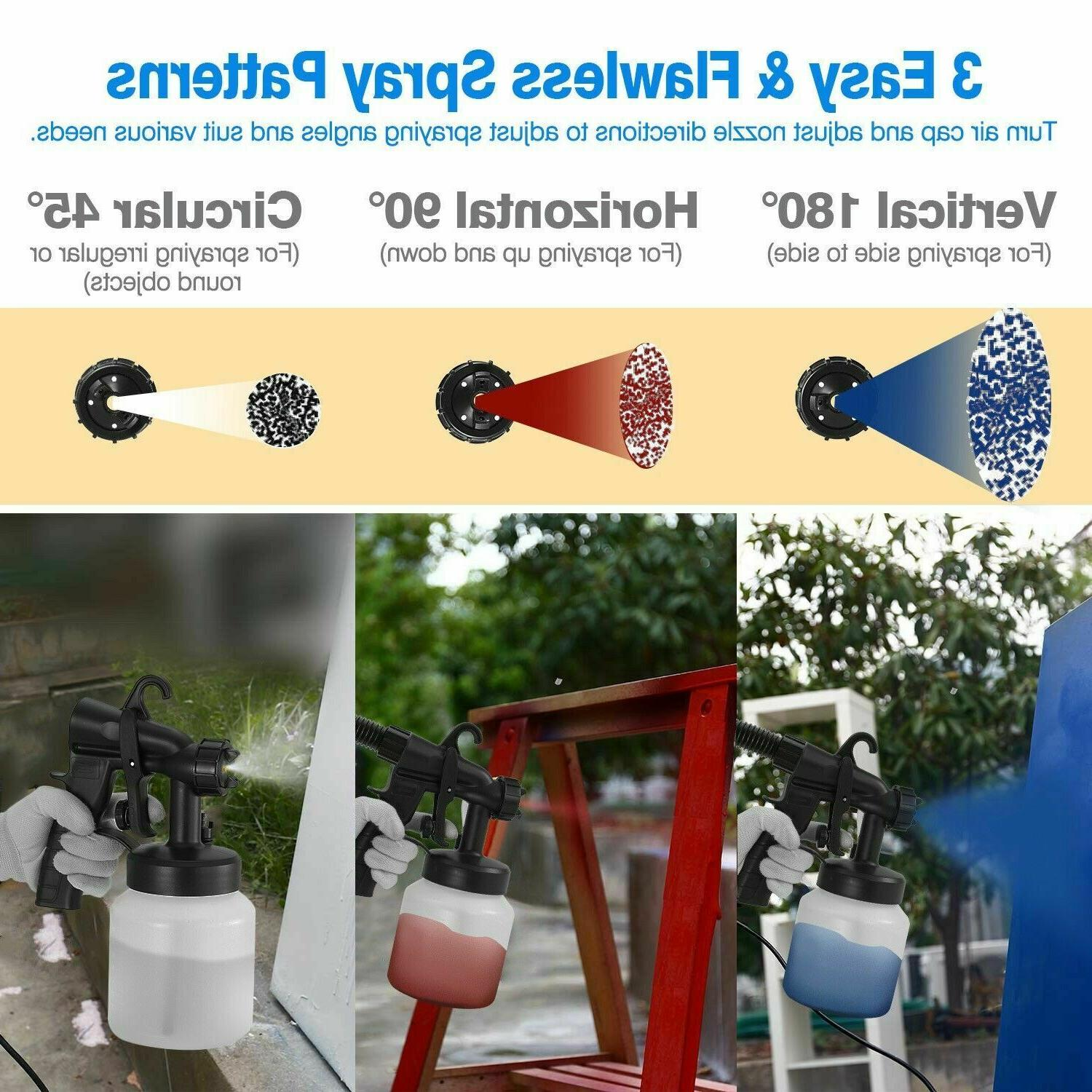 800ML Painting Sprayer HVLP Nozzle+HVLP Cooling System