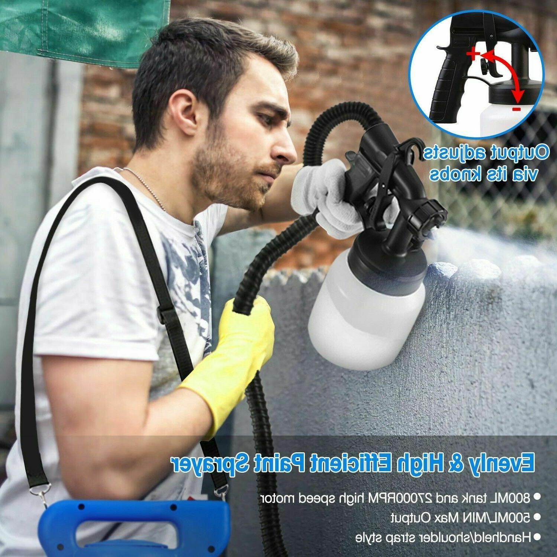 800ML Electric Sprayer Gun HVLP Nozzle+HVLP Cooling System