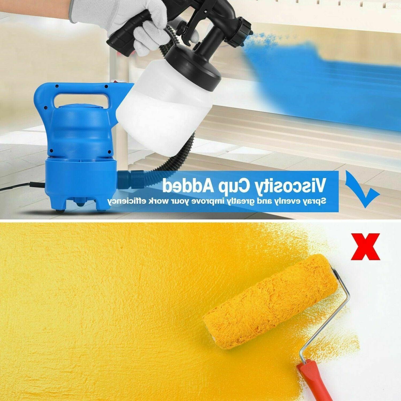 800ML Electric Paint Sprayer 3-ways Nozzle+HVLP Cooling