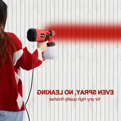 HALULU Paint Sprayer 550W HVLP Patent Spray Width Knob