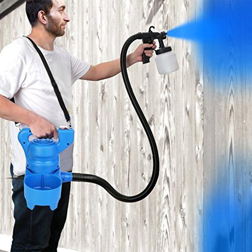 PaintMax Sprayer Gun. 3 Patterns, Valve Quick Refill Detachable Indoor Home Deck Paint