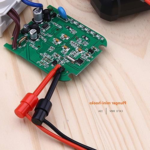 TACKLIFE Kit, METL04,Digital Multimeter with Alligator Extension, Test Mini-hooks Meter, Clamp Set 8