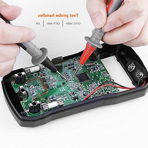 TACKLIFE Test Leads Kit, METL04,Digital Multimeter with Alligator Extension, Test Probe, Plunger Mini-hooks Test Clamp Set