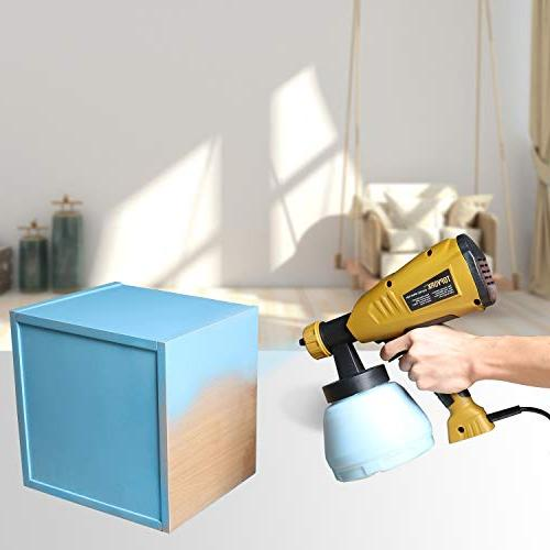 Paint HVLP Paint with Detachable 3 Spray 3 Cord Length, Knob, Ideal Projects