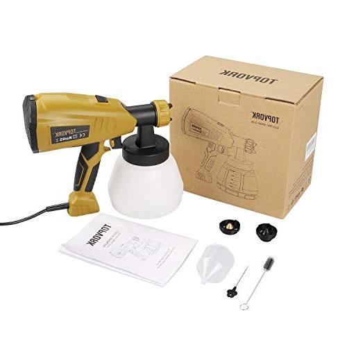 Paint Sprayer, HVLP Electric 3 Spray 3 Cord Adjustable Knob, Projects
