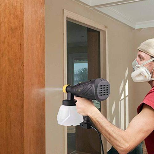 Paint TECCPO Sprayer 500 Watts 800ml/min HVLP Spray 1300ml Pcs 3 Patterns, Adjustable Valve Decoration