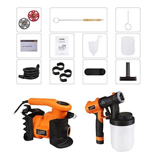 Paint Sprayer, Tacklife HVLP 1100ml/min,800W Paint Gun, 2 X Replaceable & Containers, Spray Adjustable Knobs for Indoor & Outdoor Precise
