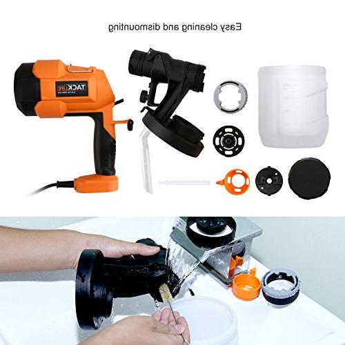 Paint Sprayer 800ml/min, Electric Spray Sizes, Adjustable Knob, Quick Refill Lid 900ml Container
