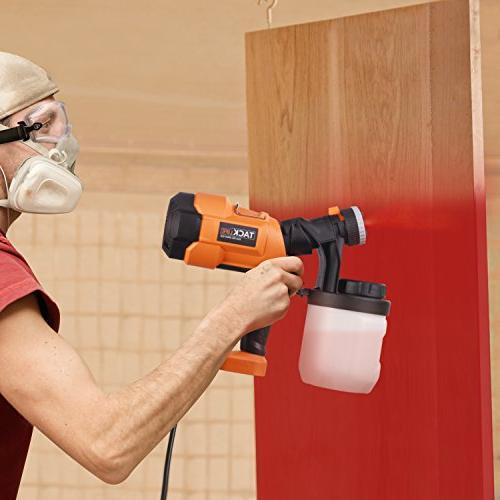 Paint Sprayer 800ml/min, Spray Gun Spray Nozzle Sizes, Adjustable Valve Quick Lid 900ml