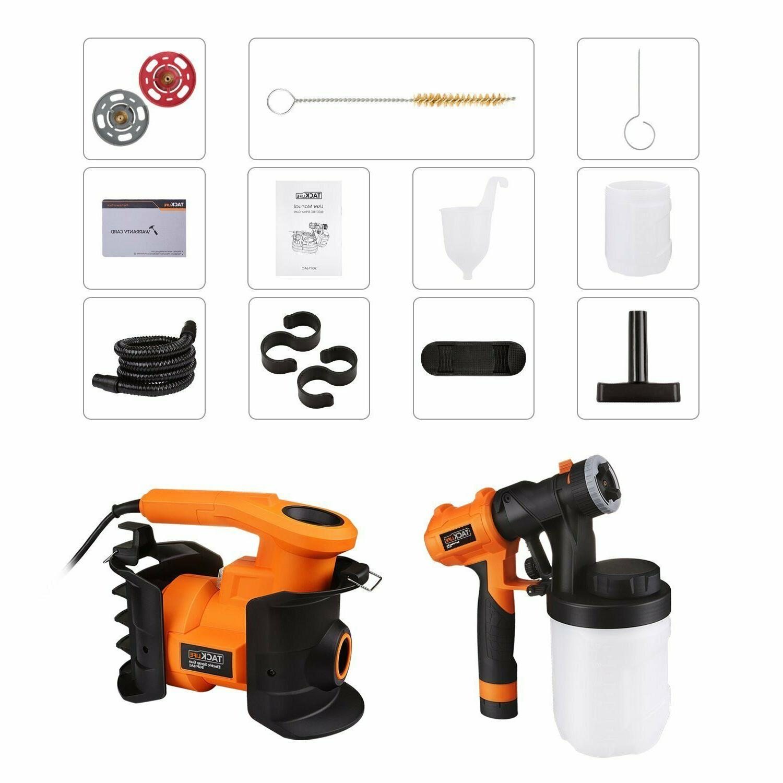 Paint Sprayer, HVLP 1100ml/min,800W 2 1200ml
