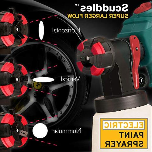 Scuddles Power 1200 Watts High Hvlp Spray Gun for Painting Control Duty