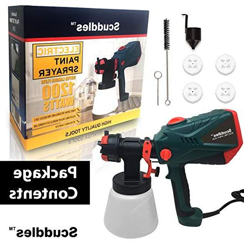 Scuddles Power Paint 1200 Watts Hvlp Spray Gun for Painting Duty
