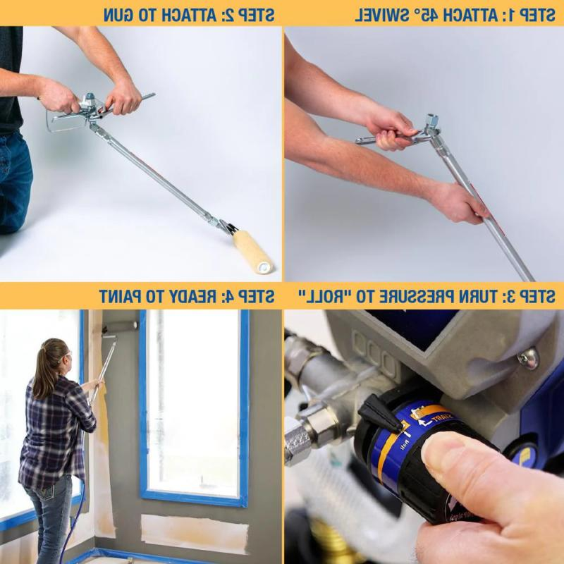 Graco Pressure Paint Stainless Roller Easy Attachment