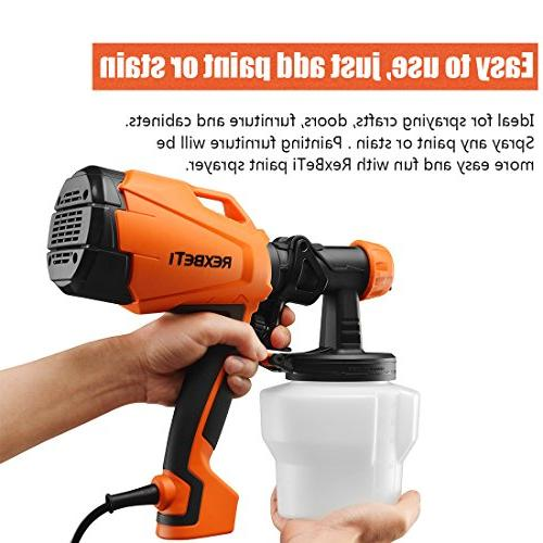 500 High HVLP Home Electric Gun, 3 Sizes, Cleaning,