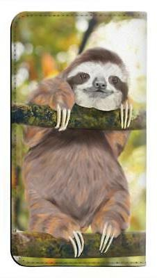 W3138 Cute Baby Sloth Paint Flip Case for IPHONE Samsung ETC