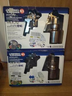 LOT of 2 Campbell Hausfeld 39 piece Spray Gun Painting Kits
