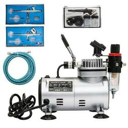 mini 3 airbrush and compressor kit dual