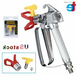 NEW 3600 PSI Airless Paint Spray Gun with 517 Tip & Tip Guar