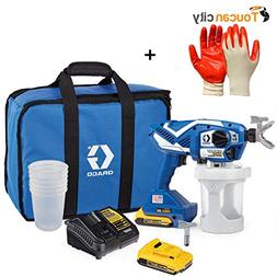 Toucan City Nitrile Dip Gloves and Graco TC Pro Plus Airless