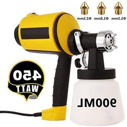 Paint Sprayer 830ml/min, Electric Power Spray Gun HVLP with